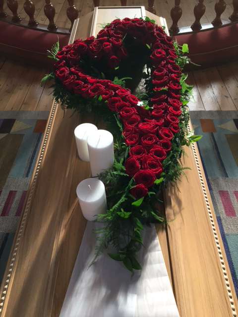 sista hälsning vid begravning